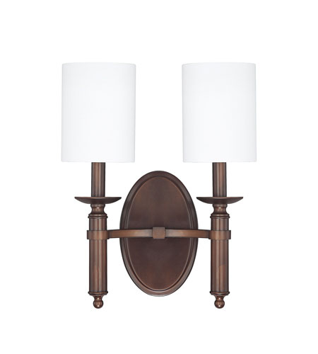 Capital Lighting 6302BB-489 Covington 2 Light 12 inch Burnished Bronze Sconce Wall Light photo