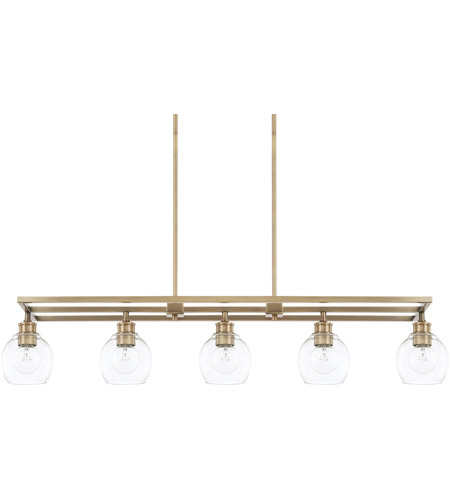 capital lighting 821151ad 426 mid century 5 light 47 inch aged brass