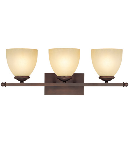 Capital Lighting Chapman 3 Light Vanity in Burnished Bronze with Mist Scavo Glass 8403BB-201 photo