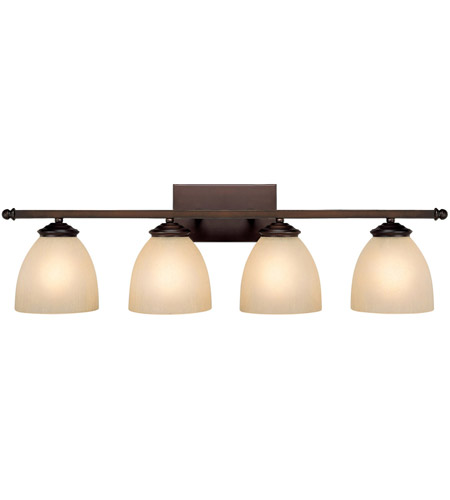 Capital Lighting 8404BB-201 Chapman 4 Light 32 inch Burnished Bronze Vanity Wall Light in Mist Scavo photo
