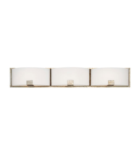 Capital Lighting Manhattan 3 Light Vanity in Winter Gold with Soft White Glass 8423WG-206 photo