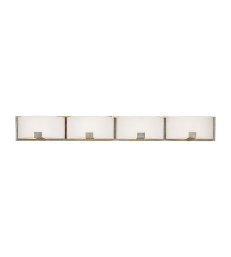 Capital Lighting Manhattan 4 Light Vanity in Winter Gold with Soft White Glass 8424WG-206 photo