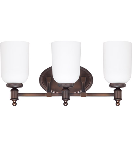Capital Lighting 8443BB-102 Covington 3 Light 19 inch Burnished Bronze Vanity Wall Light photo
