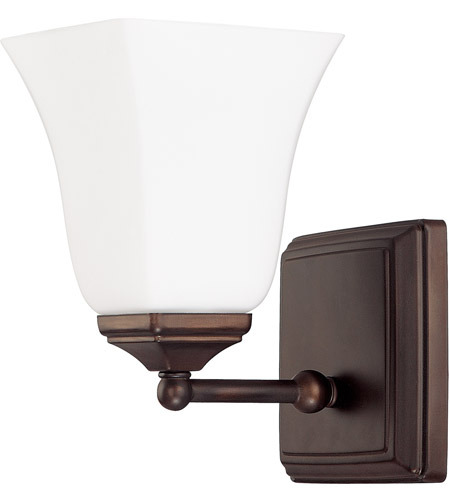Capital Lighting Signature 1 Light Sconce in Burnished Bronze with Soft White Glass 8451BB-119 photo