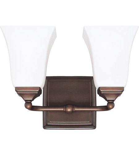 Capital Lighting 8452BB-119 Signature 2 Light 13 inch Burnished Bronze Vanity Wall Light photo