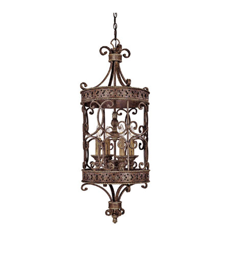 Capital Lighting Squire 4 Light Foyer in Crusted Umber 9024CU photo