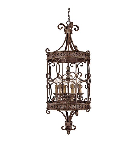 Capital Lighting Squire 6 Light Foyer in Crusted Umber 9026CU photo