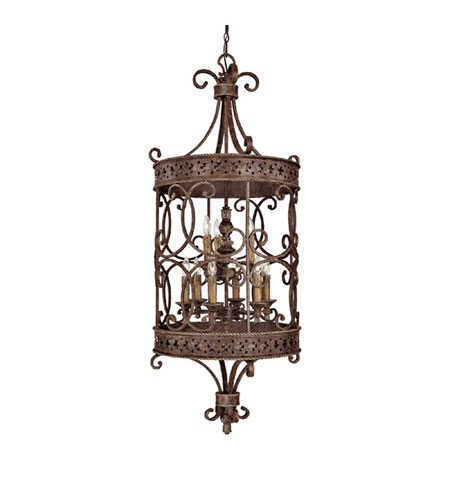 Capital Lighting Squire 9 Light Foyer in Crusted Umber 9029CU photo