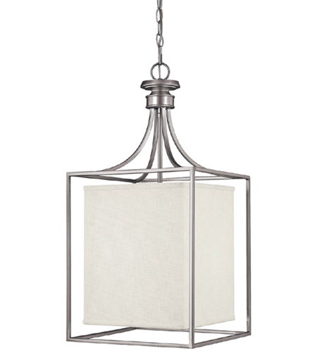 Capital Lighting Midtown 2 Light Foyer in Matte Nickel with Frosted Diffuser Glass 9041MN-472 photo