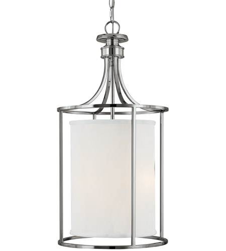 Capital Lighting 9042PN-474 Midtown 2 Light 14 inch Polished Nickel Foyer Ceiling Light in White Fabric Shade photo