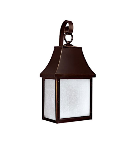 Capital Lighting Collins Hill 1 Light Dark Sky/Energy Saver Outdoor Wall Lantern in New Bronze with Frosted Seeded Glass 9062NB-GD photo