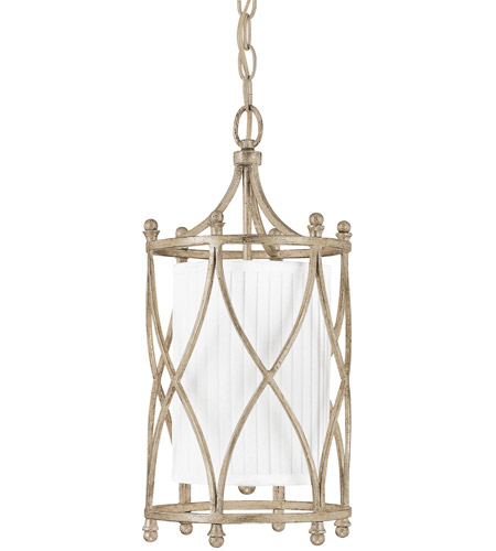 Capital Lighting Fifth Avenue 1 Light Foyer in Winter Gold with Frosted Glass Diffuser 9081WG-485 photo