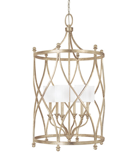 Capital Lighting 9083WG-484 Fifth Avenue 6 Light 26 inch Winter Gold Foyer Ceiling Light photo