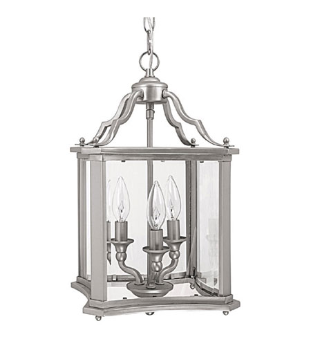 Capital Lighting Signature 3 Light Foyer in Matte Nickel with Clear Beveled 9123MN photo