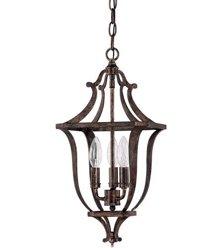 Capital Lighting 9181RT Corday 3 Light 12 inch Rustic Foyer Ceiling Light photo