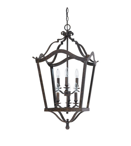 Capital Lighting Signature 6 Light Foyer in Chesterfield Brown 9192CB photo