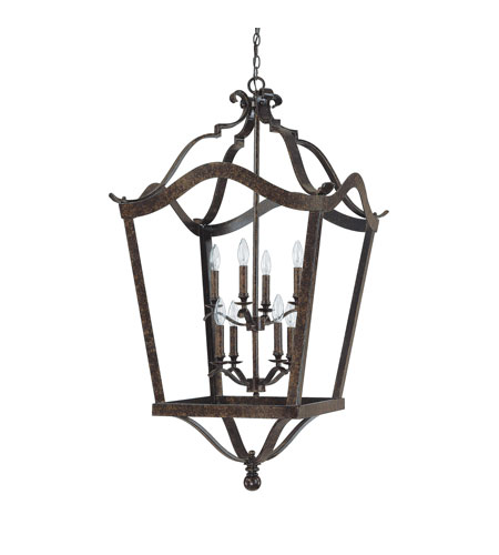 Capital Lighting Signature 8 Light Foyer in Chesterfield Brown 9193CB photo