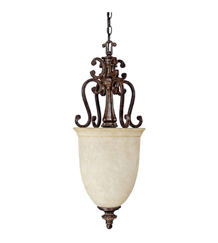 Capital Lighting Chesterfield 2 Light Chandelier in Chesterfield Brown with Rust Scavo Glass 9307CB photo