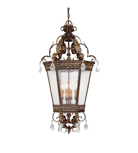 Capital Lighting Grandview 4 Light Foyer Pendant in Dark Spice with Crystals 9342DS-CR photo