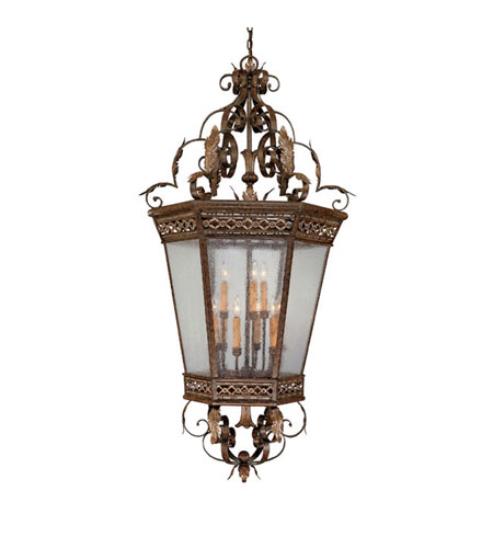 Capital Lighting Grandview 9 Light Foyer in Dark Spice with Seeded Glass 9344DS photo
