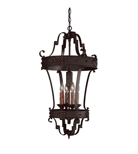 Capital Lighting 9351RI River Crest 4 Light 19 inch Rustic Iron Foyer Ceiling Light photo