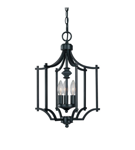 Capital Lighting Towne & Country 3 Light Foyer in Basic Black 9370BC photo