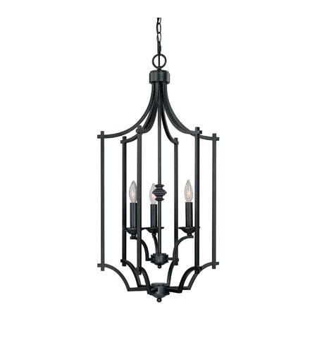 Capital Lighting Towne & Country 3 Light Foyer in Basic Black 9372BC photo