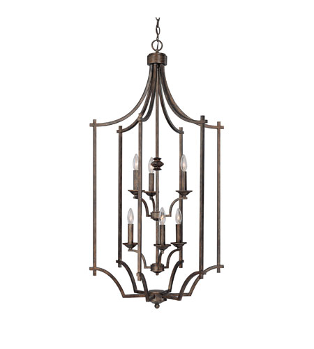 Capital Lighting Towne & Country 6 Light Foyer in Rustic 9373RT photo