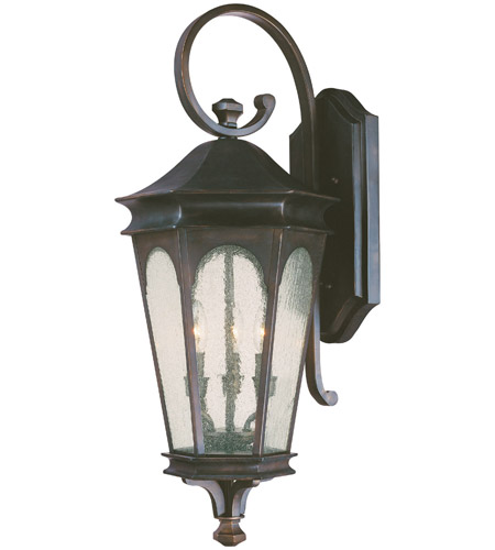 Capital Lighting 9383OB Inman Park 3 Light 33 inch Old Bronze Outdoor Wall Lantern photo