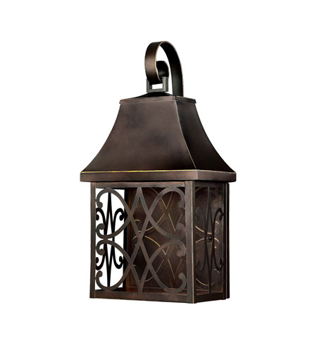 Capital Lighting Bromley 1 Light Outdoor Wall Lantern in New Bronze 9433NB photo