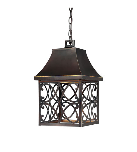 Capital Lighting Bromley 1 Light Outdoor Hanging Lantern in New Bronze 9436NB photo