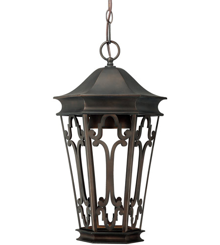 Capital Lighting Townsende 1 Light Outdoor Hanging Lantern in Old Bronze 9446OB photo