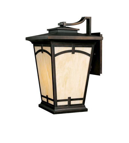Capital Lighting Dakota 1 Light Outdoor Wall Lantern in Burnished Bronze with Honey Art Glass 9524BB photo