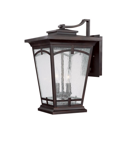 Capital Lighting Dakota 2 Light Outdoor Wall Lantern in Burnished Bronze with Seeded Glass 9533BB photo