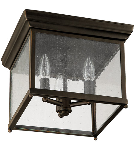 Capital Lighting Signature 3 Light Outdoor Ceiling in Old Bronze 9546OB photo