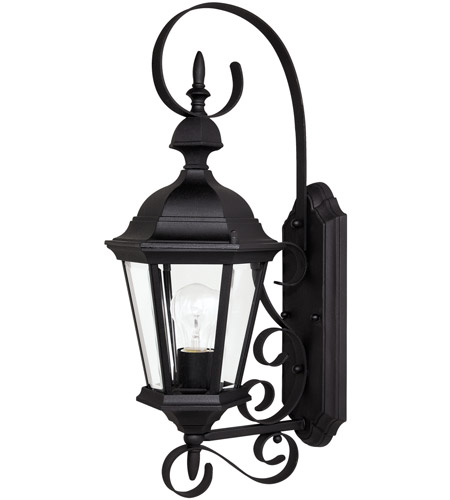 Capital Lighting 9721BK Carriage House 1 Light Black Outdoor Wall Lantern photo