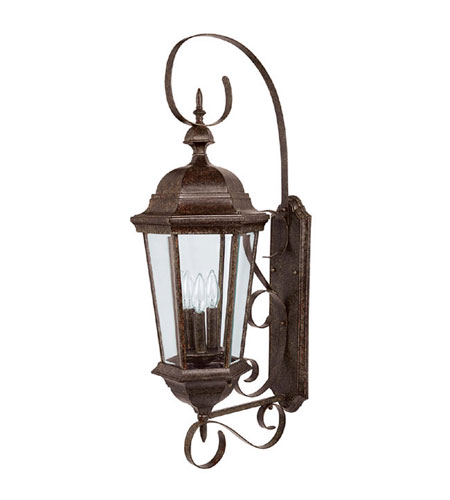 Capital Lighting 9723TS Carriage House 3 Light Tortoise Outdoor Wall Lantern photo