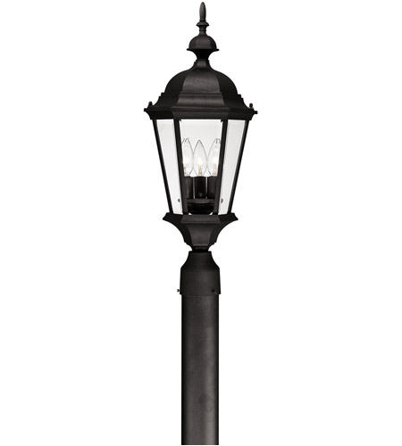 Capital Lighting 9725BK Carriage House 3 Light 24 inch Black Outdoor Post Lantern photo
