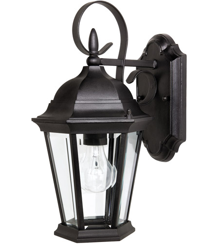 Capital Lighting Carraige House 1 Light Outdoor Wall Lantern in Black with Clear Glass 9726BK photo