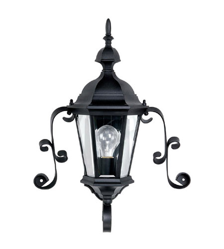 Capital Lighting Carraige House 1 Light Outdoor Wall Lantern in Black with Clear Glass 9727BK photo