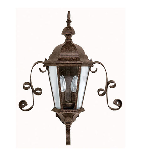 Capital Lighting Carraige House 2 Light Outdoor Wall Lantern in Tortoise with Clear Glass 9728TS photo