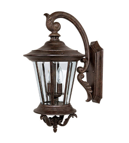 Capital Lighting Madison 2 Light Outdoor Wall Lantern in Tortoise with Clear Glass 9752TS photo