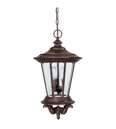 Capital Lighting Madison 3 Light Outdoor Hanging Lantern in Tortoise with Clear Glass 9755TS photo