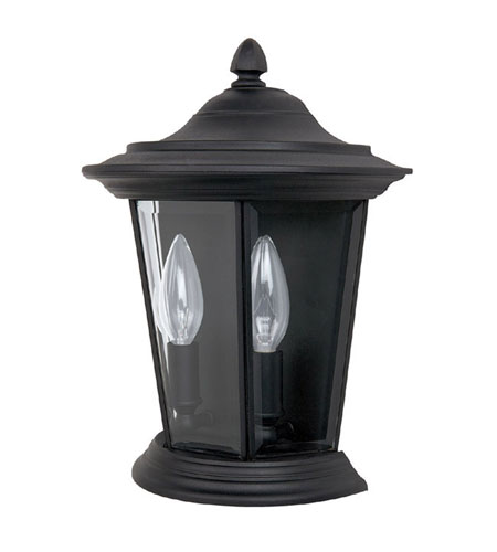 Capital Lighting Madison 2 Light Outdoor Wall Lantern in Black with Clear Glass 9759BK photo