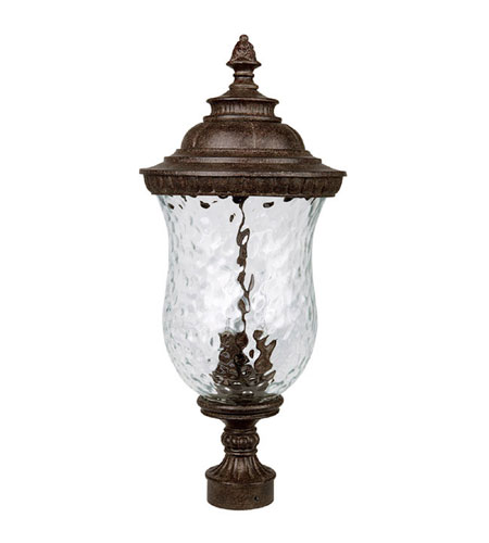 Capital Lighting Ashford 3 Light Outdoor Post Lantern in Tortoise with Hammered Glass 9785TS photo
