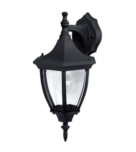 Capital Lighting Signature 1 Light Outdoor Wall Lantern in Black with Clear Glass 9810BK photo
