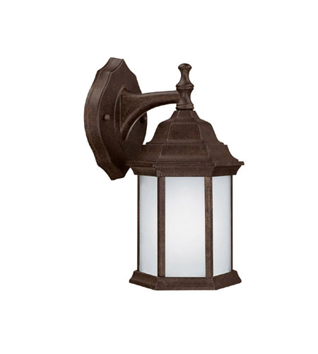 Capital Lighting Signature 1 Light Fluorescent Outdoor Wall Lantern in Tortoise with Frosted Seeded Glass 9830TS-GU photo