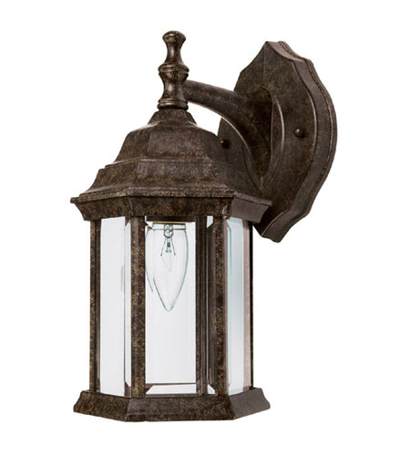 Capital Lighting Signature 1 Light Outdoor Wall Lantern in Tortoise with Clear Glass 9830TS photo