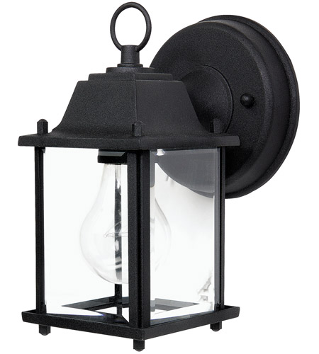 Capital Lighting 9850BK Signature 1 Light Black Outdoor Wall Lantern photo