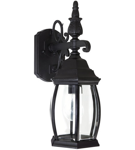 Capital Lighting 9866BK French Country 1 Light Black Outdoor Wall Lantern photo